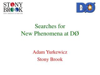 Searches for  New Phenomena at D Ø