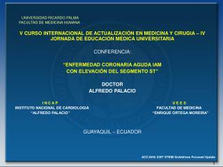UNIVERSIDAD RICARDO PALMA FACULTAD DE MEDICINA HUMANA