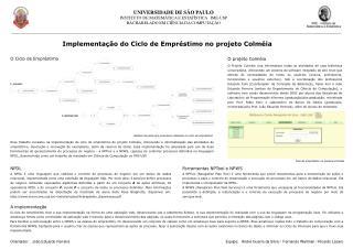 UNIVERSIDADE DE SÃO PAULO INSTITUTO DE MATEMÁTICA E ESTATÍSTICA   IME-USP