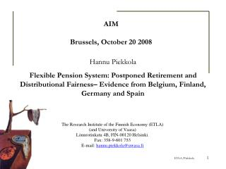 AIM Brussels, October 20 2008