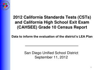 San Diego Unified School District September 11, 2012
