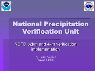 National Precipitation Verification Unit