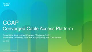 CCAP Converged Cable Access Platform