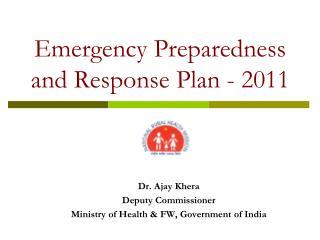 Emergency Preparedness and Response Plan - 2011