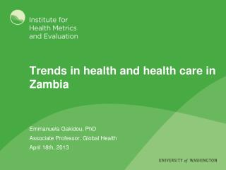 Trends in health and health care in Zambia