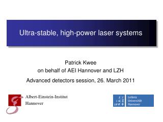 Ultra-stable, high-power laser systems