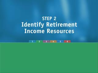 Major Retirement Income Sources