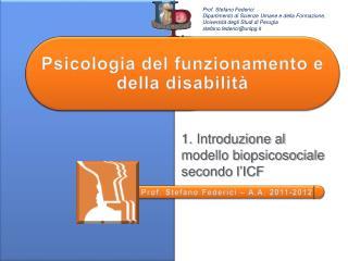 Psicologia del funzionamento  e della disabilit�
