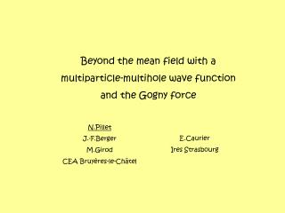 Beyond the mean field with a  multiparticle-multihole wave function and the Gogny force