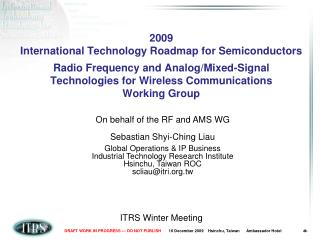 ITRS Winter Meeting