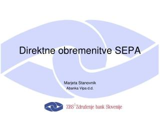 Direktne obremenitve SEPA