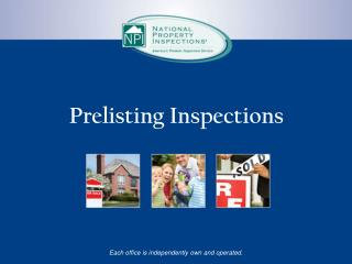 Prelisting Inspections