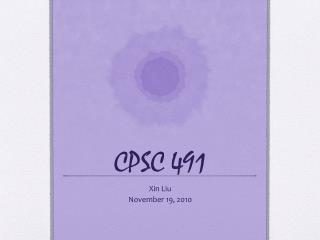 CPSC 491