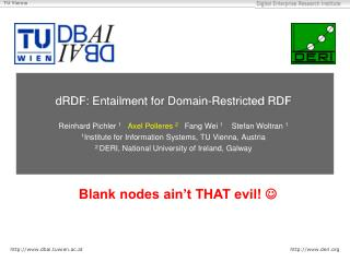 dRDF :  Entailment for Domain-Restricted  RDF
