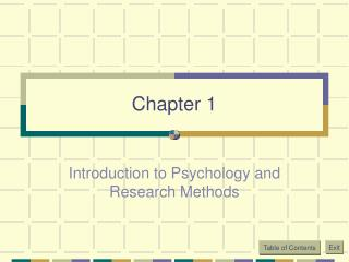 Introduction to Psychology and Research Methods