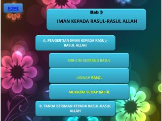 Bab  3  IMAN KEPADA RASUL-RASUL ALLAH