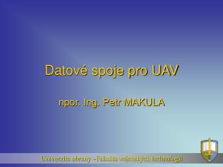 Datové spoje pro UAV