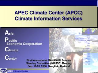 A sia  P acific   Economic Cooperation C limate C enter