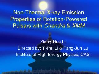 Non-Thermal X-ray Emission Properties of Rotation-Powered Pulsars with  Chandra  &  XMM