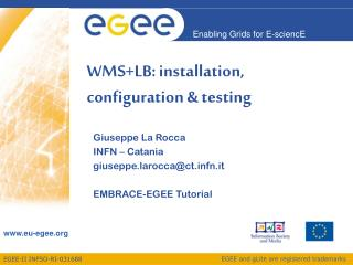 WMS+LB: installation, configuration & testing