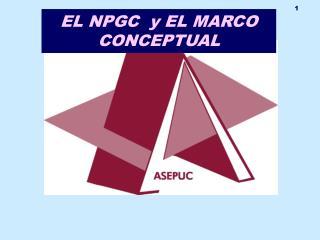 EL NPGC  y EL MARCO CONCEPTUAL