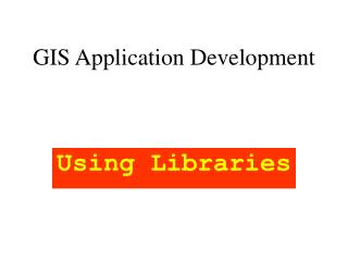 GIS Application Development