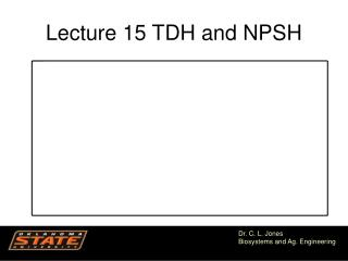 Lecture 15 TDH and NPSH