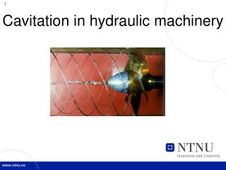 Cavitation in hydraulic machinery