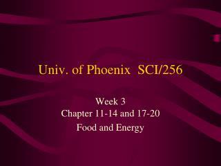 Univ. of Phoenix  SCI/256