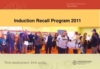 Induction Recall Program 2011