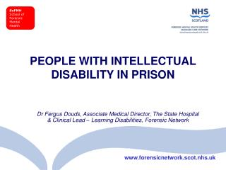 PEOPLE WITH INTELLECTUAL DISABILITY IN PRISON