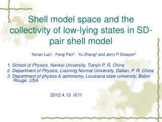 Shell model space and the collectivity of low-lying states in SD-pair shell model