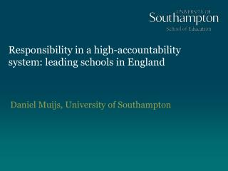 Responsibility in a high-accountability system: leading schools in England