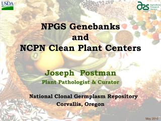 NPGS Genebanks and NCPN Clean Plant Centers