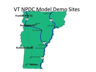 VT NPDC Model Demo Sites