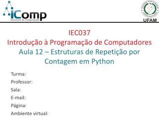 IEC037 Introdução à Programação de Computadores