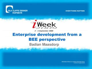 Enterprise development from a BEE perspective
