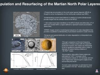Crater Population and Resurfacing of the Martian North Polar Layered Deposits