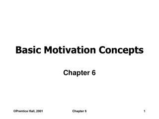 Basic Motivation Concepts