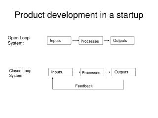 Product development in a startup