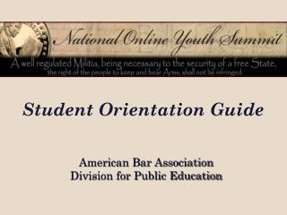 Student Orientation Guide