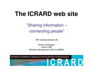 The ICRARD web site