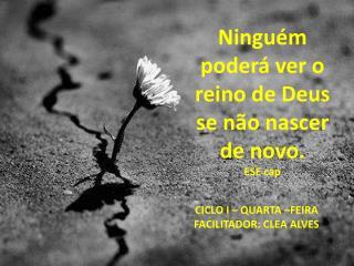 Ninguém poderá ver o reino de Deus se não nascer de novo.  ESE cap