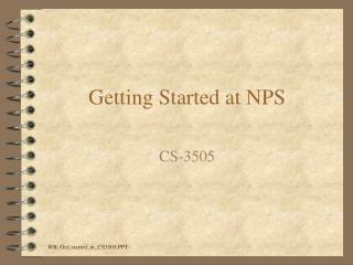 Getting Started at NPS