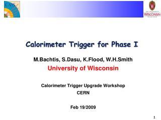 Calorimeter Trigger for Phase I