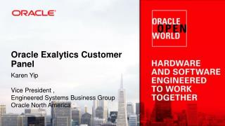 Oracle Exalytics Customer Panel