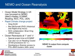 NEMO and Ocean Reanalysis
