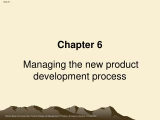 Chapter 6 Managing the new product development process