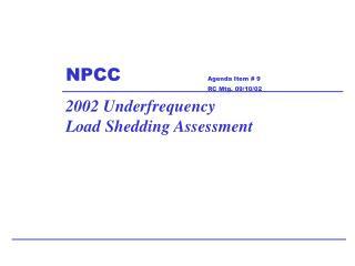 NPCC Agenda Item # 9 RC Mtg. 09/10/02