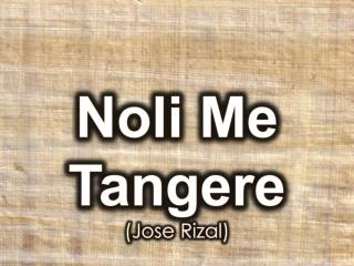 Noli  Me  Tangere (Jose Rizal)